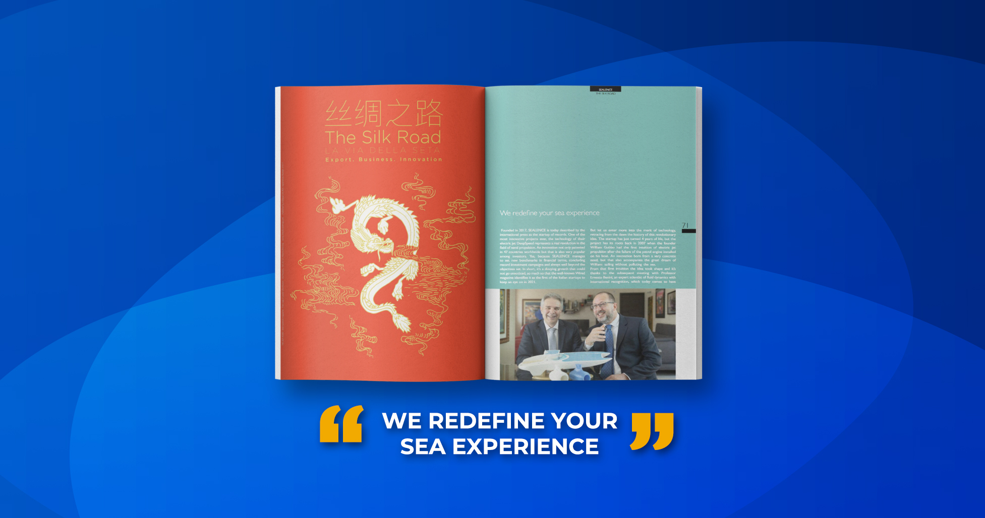 We redefine your sea experience
